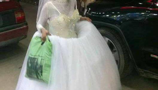 تداول صور سيدة عجوز ترتدي فستان زفاف فى الأسكندرية