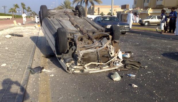 إصابة أربع أفراد شرطة فى إنقلاب سيارة بسوهاج
